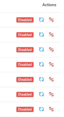 Disabled projects:users