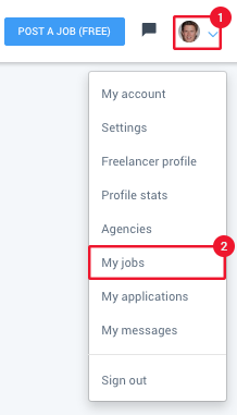 How do I contact freelancers who have applied to my jobs?